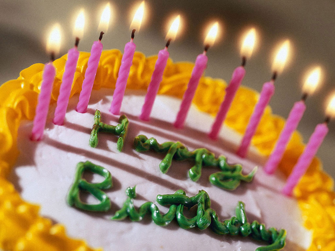 Wallpapers Backgrounds Happy Birthday Cake And Candles Wallpaper
