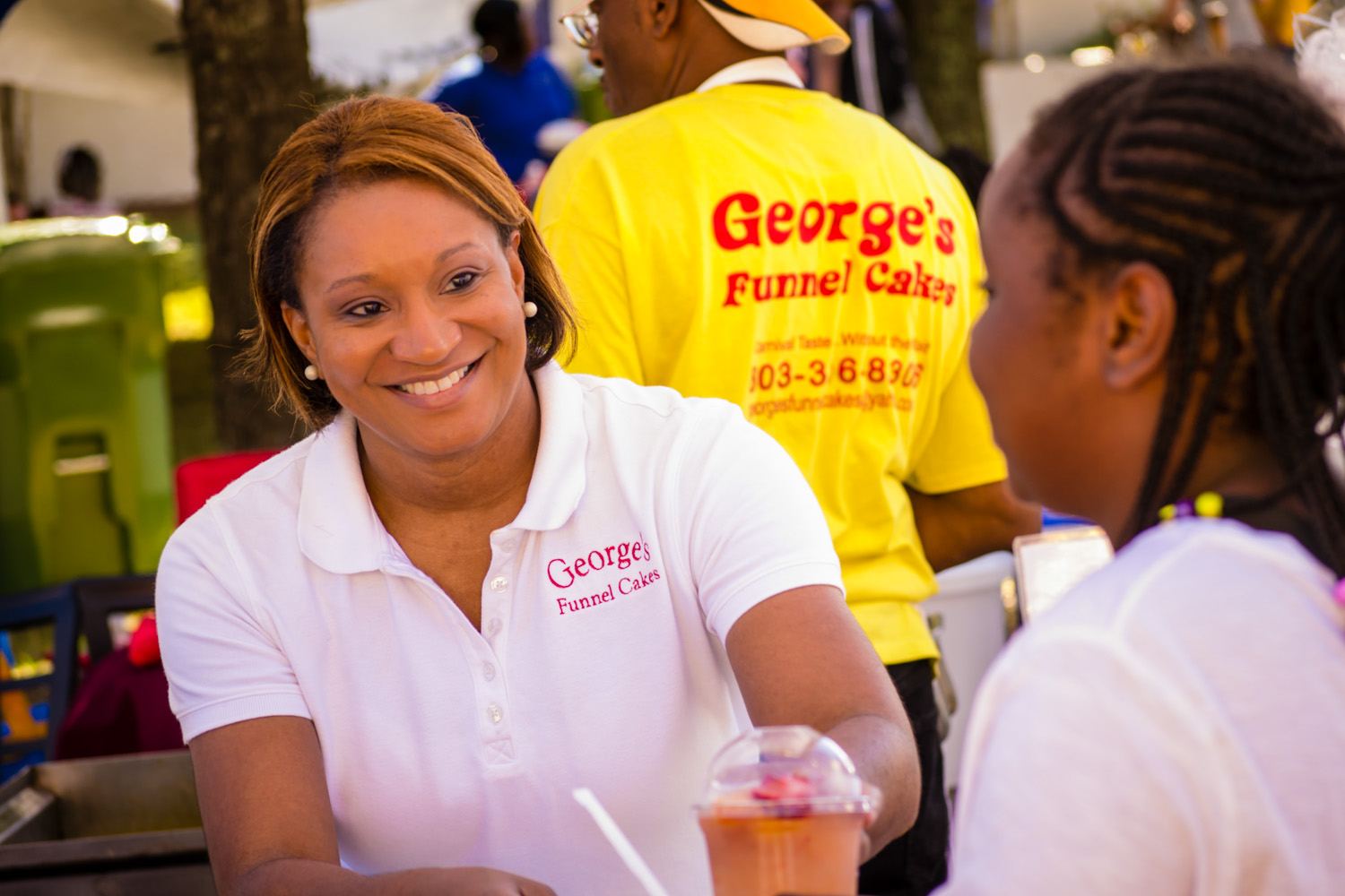 Melissa Waites loves serving his community the best Funnel Cakes in town!